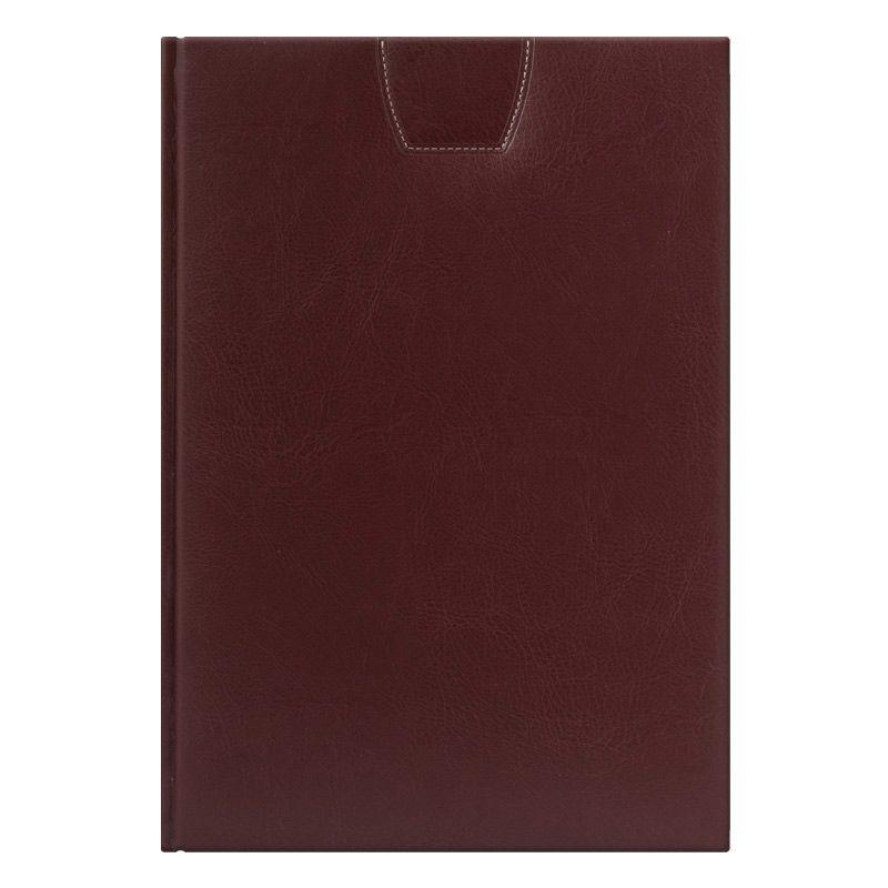 Ежедневник PORTLAND 5488 210х297 мм коричневый, белый блок, золоченый срез, красно-черная графика 2018