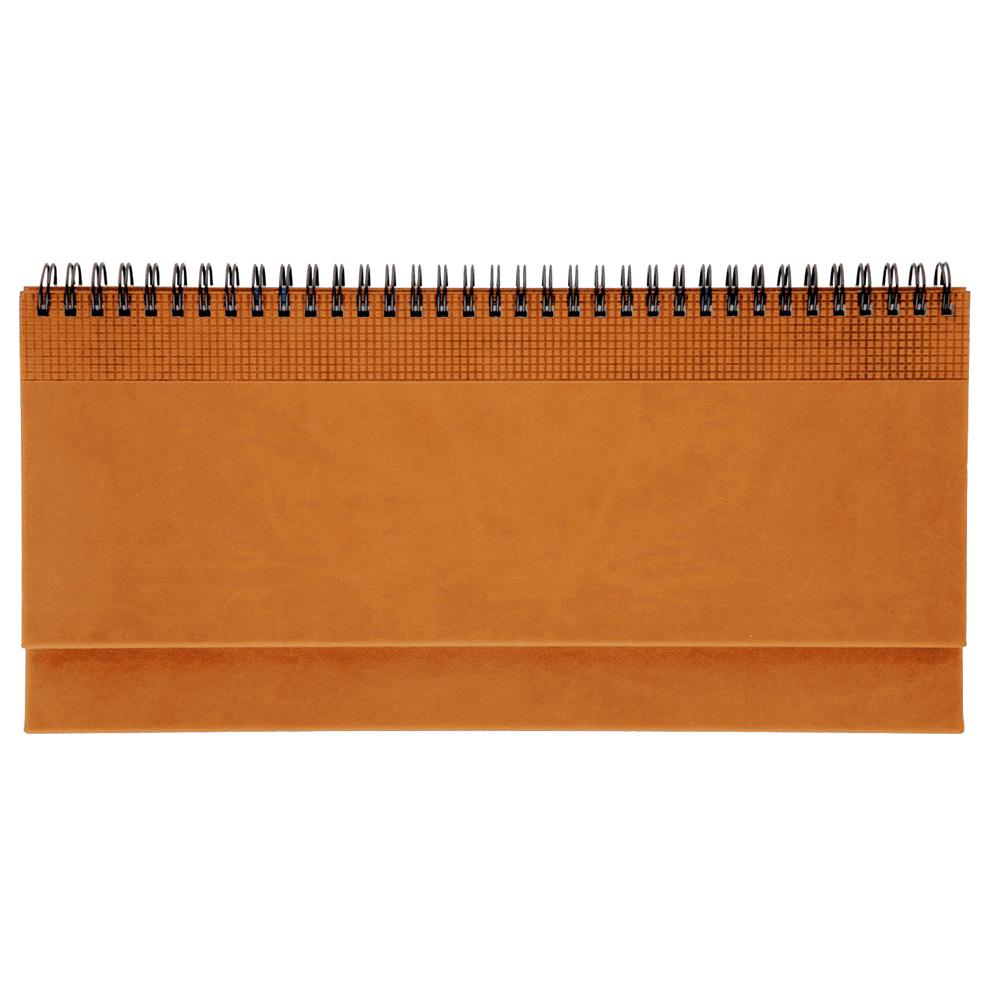 Ежедневник PORTLAND 5459 (650) 145x205 мм, апельсин, кремовый блок, золот.срез, красно-черная графика,2018